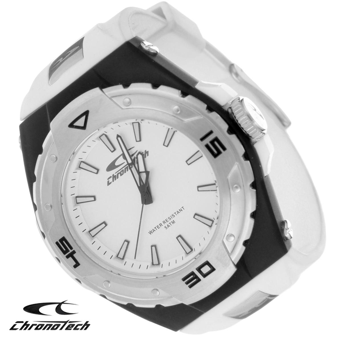 Часы мужские наручные Chronotech, цвет: белый, серый. RW0016RW0016Часы Chronotech - это часы для современных и стильных людей, которые стремятся выделиться из толпы и подчеркнуть свою индивидуальность. Корпус часов выполнен из нержавеющей стали с покрытием. Циферблат оформлен отметками и защищен минеральным стеклом. Часы имеют три стрелки - часовую, минутную и секундную. Стрелки и отметки светятся в темноте. Ремешок часов выполнен из полиуретана и застегивается на классическую застежку. Часы выполнены в спортивном стиле. Часы упакованы в фирменную коробку с логотипом компании Chronotech. Такой аксессуар добавит вашему образу стиля и подчеркнет безупречный вкус своего владельца. Характеристики: Диаметр циферблата: 3,1 см. Размер корпуса: 5 см х 5 см х 1,1 см. Длина ремешка (с корпусом): 22 см. Ширина ремешка: 2,3 см.