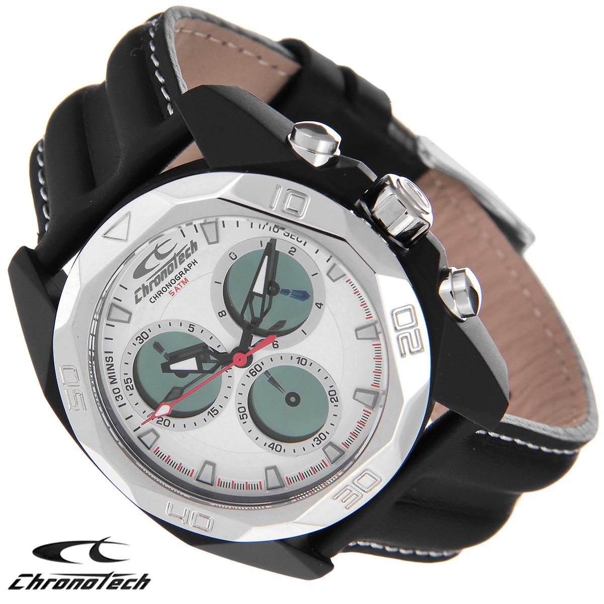 Часы мужские наручные Chronotech, цвет: черный. RW0062RW0062Часы Chronotech - это часы для современных и стильных людей, которые стремятся выделиться из толпы и подчеркнуть свою индивидуальность. Корпус часов выполнен из нержавеющей стали с IP-покрытием. Циферблат оформлен отметками и защищен минеральным стеклом. Часы имеют три стрелки - часовую, минутную и секундную. Стрелки и отметки светятся в темноте. Часы оснащены функцией хронографа и имеют секундомер. Ремешок часов выполнен из натуральной кожи с контрастной отстрочкой и застегивается на классическую застежку. Часы упакованы в фирменную коробку с логотипом компании Chronotech. Такой аксессуар добавит вашему образу стиля и подчеркнет безупречный вкус своего владельца. Характеристики: Диаметр циферблата: 3,3 см. Размер корпуса: 4,3 см х 4,8 см х 1,2 см. Длина ремешка (с корпусом): 25 см. Ширина ремешка: 2,1 см.