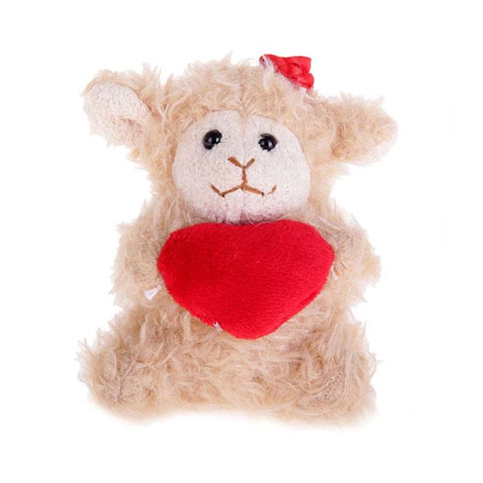 Мягкая игрушка-подвеска Sima-land Овечка с сердечком, 10 см. 332803332803Очаровательная мягкая игрушка-подвеска Sima-land Овечка с сердечком не оставит вас равнодушным и вызовет улыбку у каждого, кто ее увидит. Игрушка выполнена из искусственного меха и текстиля в виде забавной овечки с цветком на голове и с сердцем в лапах. К игрушке прикреплена текстильная петелька для подвешивания. Мягкая и приятная на ощупь игрушка станет замечательным подарком, который вызовет массу положительных эмоций.