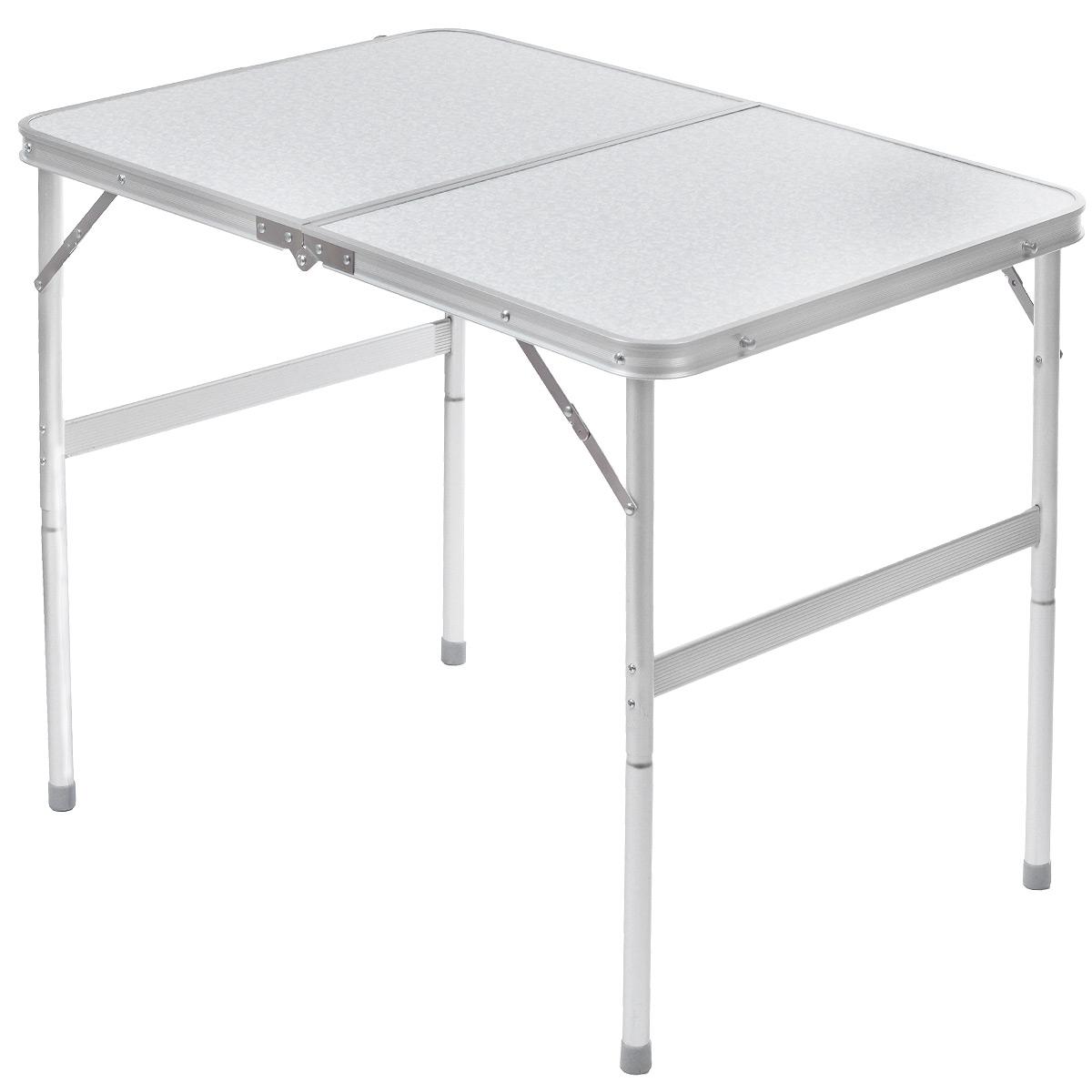 Стол складной FIT, 2 позиции по высоте, 90 х 60 х 70 см/39 см78356Складной стол FIT изготовлен из алюминия и пластика. Предназначен для расположения различных предметов, принятия пищи. Идеален для походов, поездок и пикников. Удобно и быстро складывается, занимая минимум пространства. Стол удобен и тем, что регулируется по высоте (70 см или 39 см).