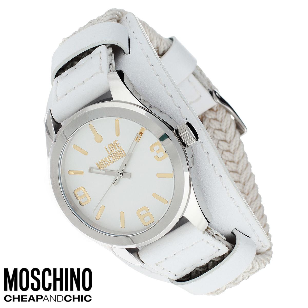 Часы женские наручные Moschino, цвет: белый, серебристый. MW0415MW0415Наручные часы от известного итальянского бренда Moschino - это не только стильный и функциональный аксессуар, но и современные технологи, сочетающиеся с экстравагантным дизайном и индивидуальностью. Часы Moschino оснащены кварцевым механизмом. Корпус выполнен из высококачественной нержавеющей стали. Циферблат с отметками и арабскими цифрами оформлен надписью Love Moschino и защищен минеральным стеклом. Часы имеют три стрелки - часовую, минутную и секундную. Текстильный плетеный ремешок часов с элементами из натуральной кожи имеет классическую застежку. Часы упакованы в фирменную металлическую коробку с логотипом бренда. Часы Moschino благодаря своему уникальному дизайну отличаются от часов других марок своеобразными циферблатами, функциональностью, а также набором уникальных технических свойств. Каждой модели присуща легкая экстравагантность, самобытность и, безусловно, великолепный вкус. Характеристики: Диаметр циферблата:...