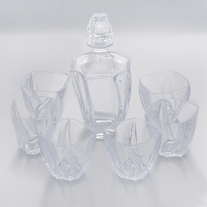 Набор для виски Crystalite Bohemia Нептун, 7 предметов99999/9/99S39/087Набор Crystalite Bohemia Нептун состоит из графина и шести граненых стаканов. Изделия выполнены из прочного утолщенного стекла кристалайт. Они излучают приятный блеск и издают мелодичный звон. Предметы набора оснащены рельефной поверхностью с закрученными книзу гранями. Набор предназначен для виски. Набор для виски Crystalite Bohemia Нептун прекрасно оформит интерьер кабинета или гостиной и станет отличным дополнением бара. Такой набор также станет хорошим подарком к любому случаю. Можно использовать в посудомоечной машине и микроволновой печи.