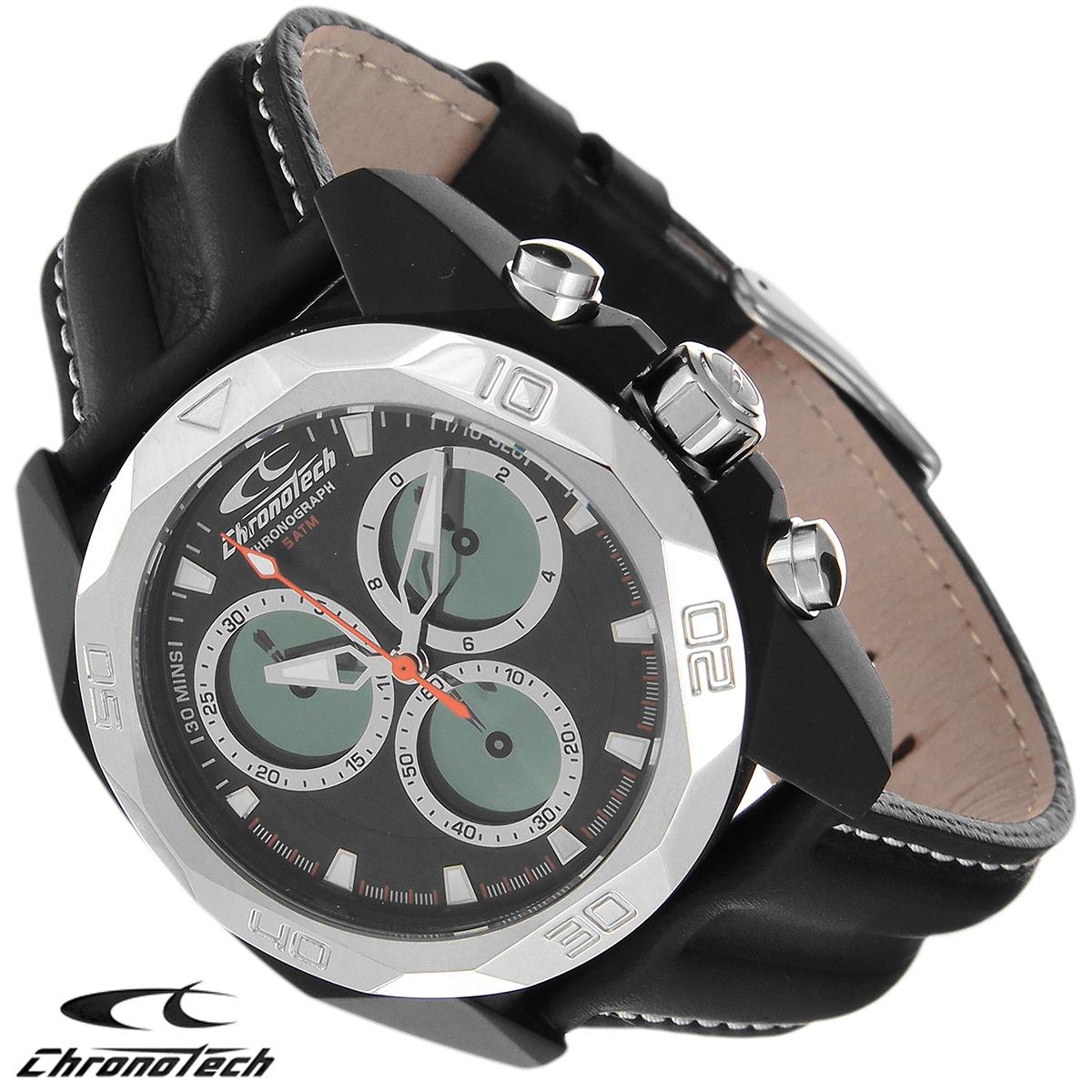 Часы мужские наручные Chronotech, цвет: черный. RW0059RW0059Часы Chronotech - это часы для современных и стильных людей, которые стремятся выделиться из толпы и подчеркнуть свою индивидуальность. Корпус часов выполнен из нержавеющей стали с покрытием поликарбонатом. Циферблат оформлен отметками и защищен минеральным стеклом. Часы имеют три стрелки - часовую, минутную и секундную. Стрелки и отметки светятся в темноте. Часы оснащены функцией хронографа и имеют секундомер. Ремешок часов выполнен из натуральной кожи и застегивается на классическую застежку. Часы упакованы в фирменную коробку с логотипом компании Chronotech. Такой аксессуар добавит вашему образу стиля и подчеркнет безупречный вкус своего владельца. Характеристики: Диаметр циферблата: 3,3 см. Размер корпуса: 4,3 см х 4,8 см х 1,2 см. Длина ремешка (с корпусом): 24,5 см. Ширина ремешка: 2,2 см.