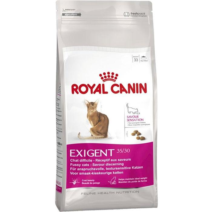 Корм сухой Royal Canin Exigent 35/30 Savoir Sensation, для кошек привередливых к вкусу продукта, 10 кг471100Сухой корм Royal Canin Exigent 35/30 Savoir Sensation является полнорационным сбалансированным кормом для очень привередливых к вкусу продукта взрослых кошек в возрасте старше 1 года. Наличие индивидуальных пищевых предпочтений означает, что каждая кошка по-своему интерпретирует аромат, текстуру, вкус корма и ощущения после его потребления. Корм, помимо вкусовых качеств, обладает также рядом других оригинальных, специфических свойств. Особенности корма Royal Canin Exigent. Savor Sensation: - корм содержит два типа крокетов, различных по форме, текстуре и составу, обладающих взаимодополняющими свойствами; - особая рецептура корма обладает умеренной калорийностью, что помогает поддерживать идеальный вес кошки; - комплекс входящих в состав корма активных питательных веществ, включающий биотин и масло огуречника аптечного, способствует красоте шерсти кошки. Royal Canin - лидер на рынке производства рационов для собак и кошек, ...