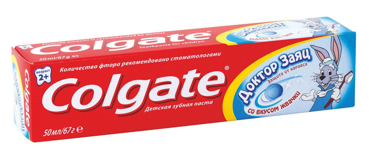 Зубная паста детская Colgate Доктор заяц, со вкусом жвачки, 50 млFCN89286Детская зубная паста Colgate Доктор заяц со вкусом жвачки защищает зубы от кариеса. Содержит проверенную Colgate защиту с фтором, более эффективно предотвращает кариес. Паста содержит безопасное для детей количество фтора. Поможет привить ребенку привычку чистить зубы. Без сахара, для более здоровых зубов. Характеристики: Объем: 50 мл. Изготовитель: Китай. Товар сертифицирован.