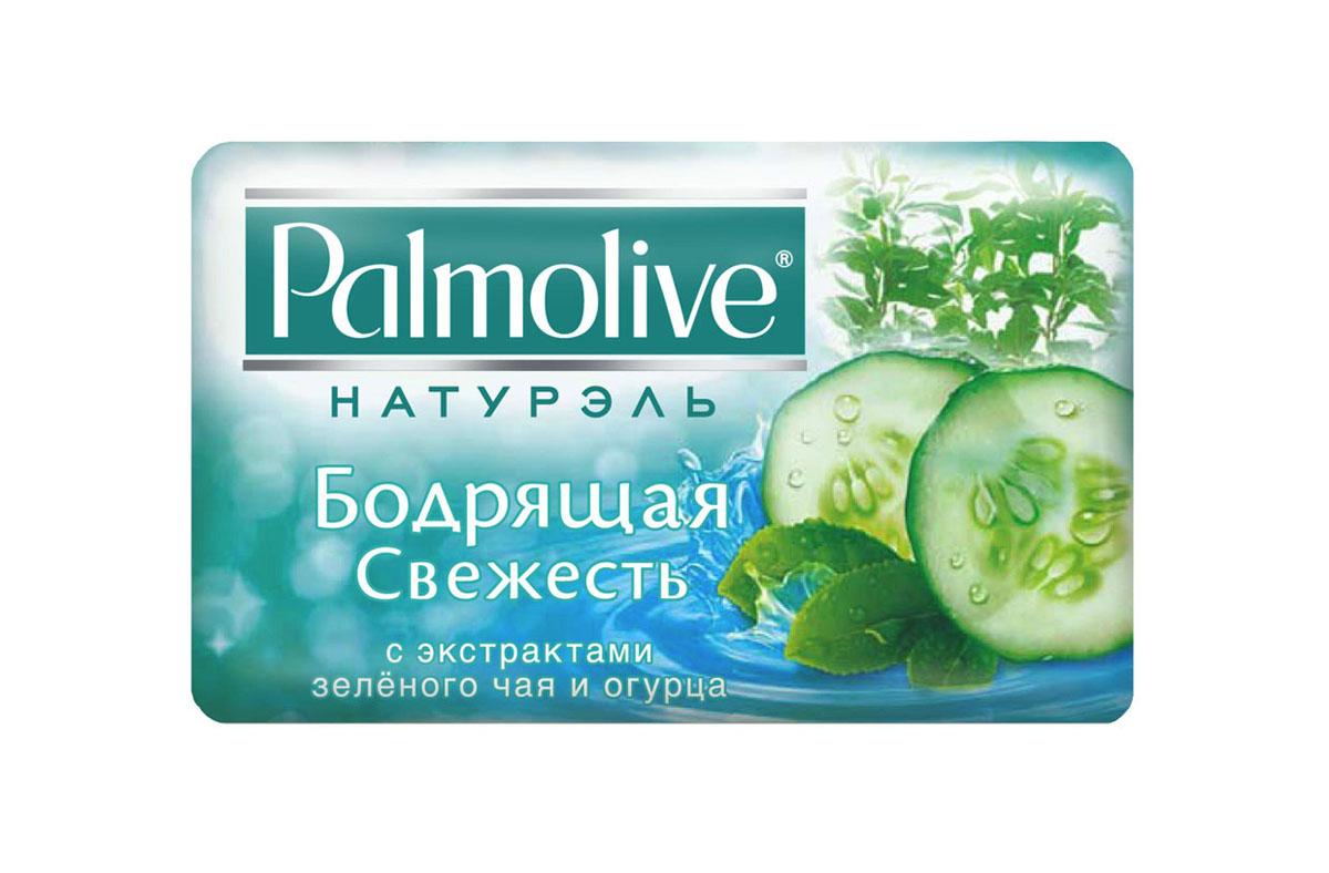 Palmolive Мыло туалетное Натурэль Бодрящая свежесть, с экстрактами зеленого чая и огурца, 90 г