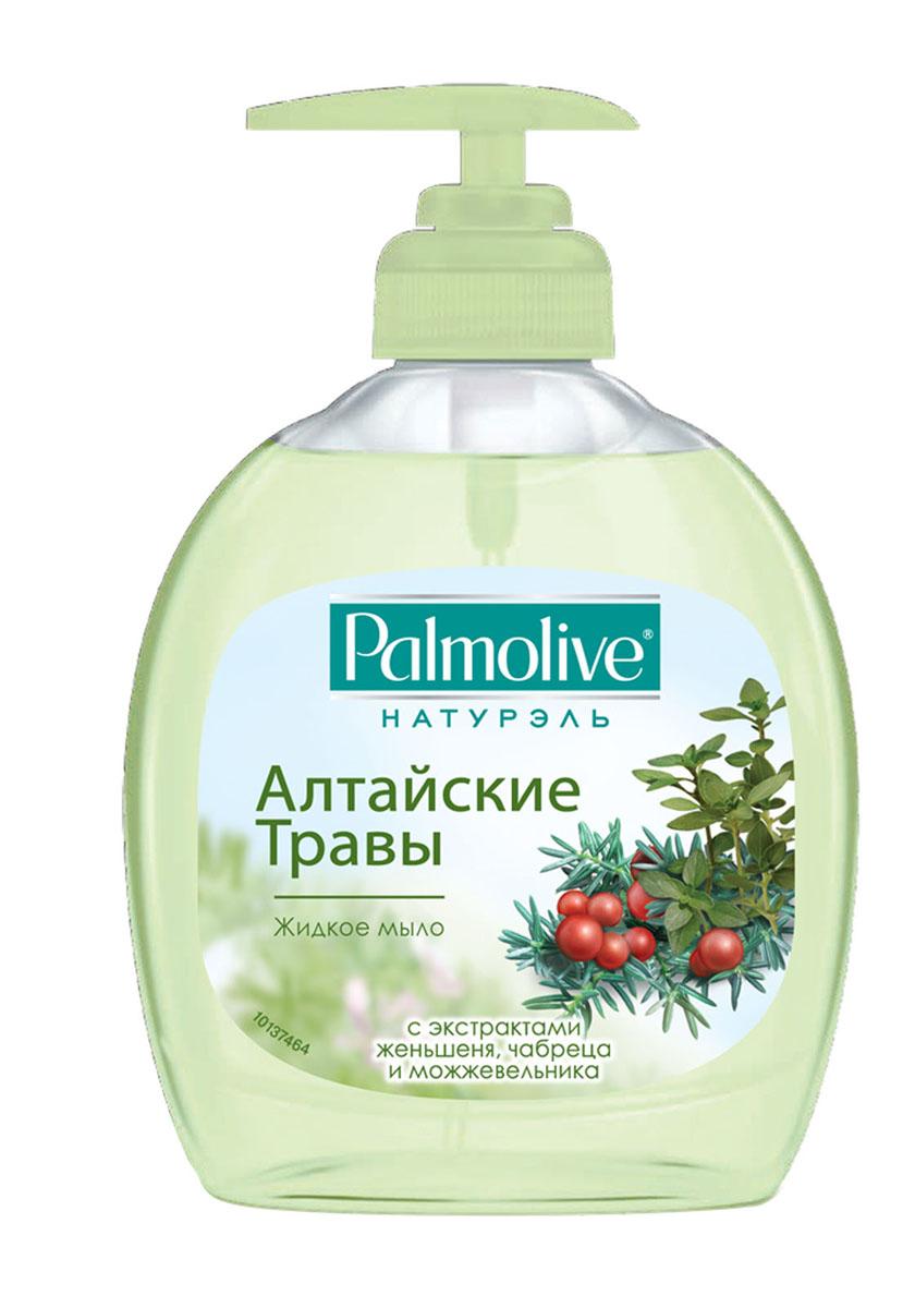 Palmolive Жидкое мыло для рук Натурэль Алтайские Травы, с экстактом женьшеня, чабреца и можжевельника, 300 мл