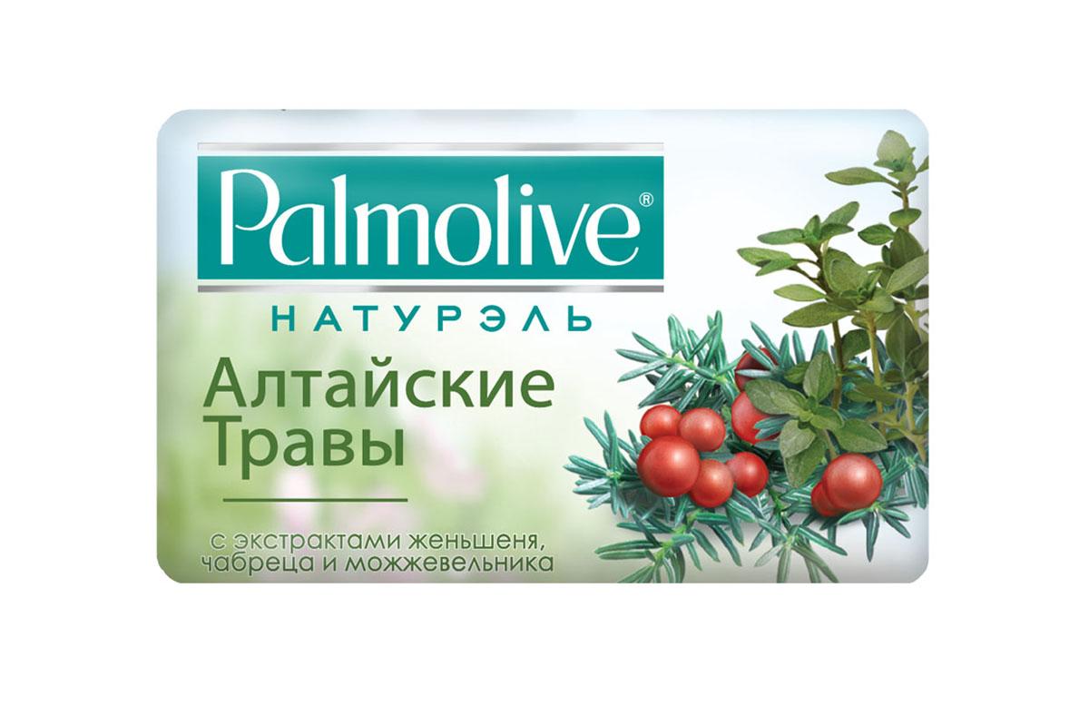 Palmolive Мыло туалетное Натурэль Алтайские Травы, 90 г с экстрактами женьшеня, чабреца и можжевельника