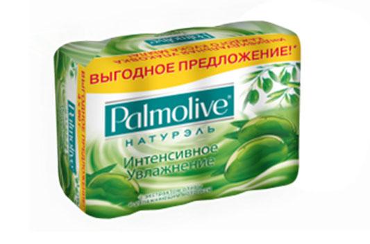 Palmolive Мыло туалетное Натурэль Интенсивное увлажнение, с экстрактом оливы и увлажняющим молочком, 4х90 г