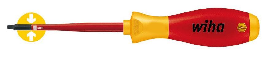 Отвертка SoftFinish electric 3581SF 1x100 slimFix Robertson Wiha 3550435504Отвертка Wiha SoftFinish electric SlimFix с четырехгранником (Robertson). Прошла поштучные испытания. Защитная изоляция позволяет работать с деталями, находящимися под напряжением до 1000 В переменного тока. Знак VDE и GS. Отвертка изготовлена в соответствии с IEC 60900:2004. Общая длина отвертки: 21 см. Длина жала: 10 см. Размер ручки: 11 см х 2,5 см х 2,5 см.