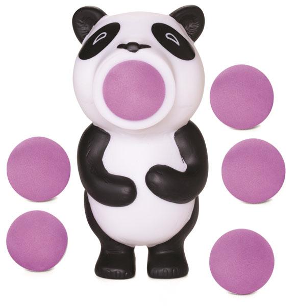 Игрушка Hog Wild Squeeze Popper: Панда, с шариками54610Игрушка Hog Wild Squeeze Popper: Панда выполнена из безопасного материала в виде забавной черно-белой панды. Также в комплект входят 6 мягких шариков из вспененного полимера и текстильная сетка для их хранения. Для запуска необходимо вставить шарик в рот панды и нажать на ее живот. Чем сильнее нажатие - тем дальше выстреливает шарик. С этим ярким увлекательным набором можно устроить настоящие соревнования и выяснить, кто же сможет дальше добросить шарик. Игрушка поможет ребенку в развитии меткости, ловкости, координации движений и сноровки.