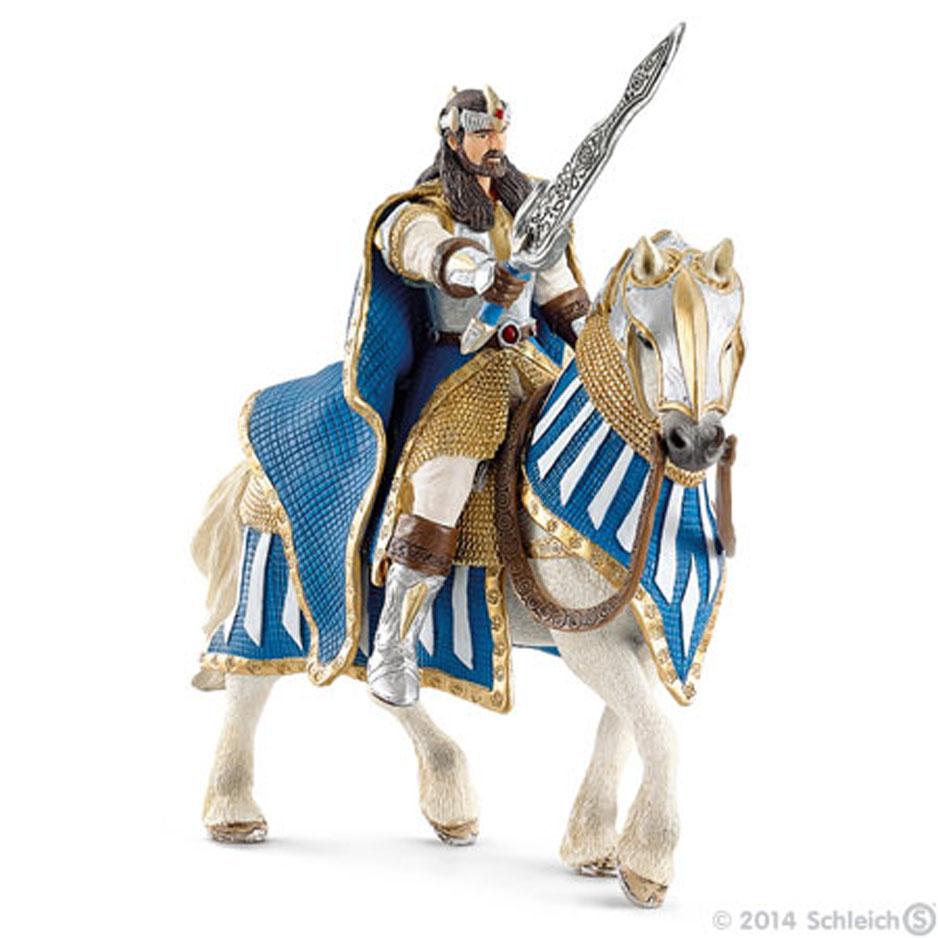 Фигурка Schleich Рыцарь Грифонов. Король на лошади, 14 см70119Фигурка Schleich Рыцарь Грифонов. Король на лошади станет прекрасным подарком для вашего ребенка. Она выполнена из каучукового пластика. Детали фигурки четкие и максимально детализированы, что привлечет внимание ребенка, который с огромным удовольствием будет играть с ней в ролевые игры. Фигурка разъемная и ваш ребенок может играть отдельно как с королем, так и с лошадью. Всадник надежно крепится к лошади с помощью магнитов, встроенных в фигурки. Рука с мечем подвижна в плече. Такая фигурка непременно понравится вашему ребенку и станет замечательным украшением любой коллекции. Всемогущий правитель Грифонов является смелым воином и мудрым королем своей страны. Король представлен в красочных доспехах и с мощным оружием. Он едет на своем боевом коне на поле битвы.