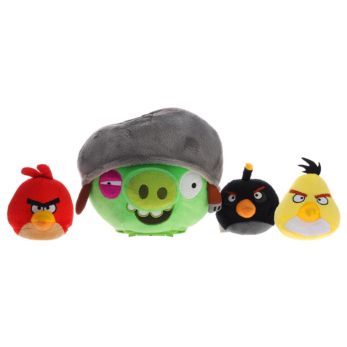 Интерактивная игра Angry Birds: Свинка в каске, 3 ПтичкиCTC-AB-2Интерактивная игра Angry Birds - это увлекательная игра для всей семьи, которая развивает меткость и ловкость. Цель игры - при помощи Птичек наказать зловредную Свинку, но это не так просто, ведь Свинка убегает и уворачивается. Необходимо включить Свинку и поставить на ровную поверхность. Игрушка, оснащенная датчиком движения, начнет перемещаться. Нужно запускать Птичек, стараясь попасть ими в Свинку. Игра предусматривает два режима: классический, в котором для победы нужно попасть Птичкой в свинку 3 раза подряд за короткий срок, и как попало!, в котором нельзя предугадать, от попадания какой Птички Свинка будет повержена. Свинка при движении и попаданиях в нее Птичек издает забавные звуки. В комплект игры входят мягкая интерактивная игрушка в виде Свинки в каске, четыре мягких игрушки в виде Птичек и правила игры на русском языке. Игрушки выполнены в виде персонажей популярной компьютерной игры Angry Birds. Ваш ребенок будет в восторге от такого подарка! ...