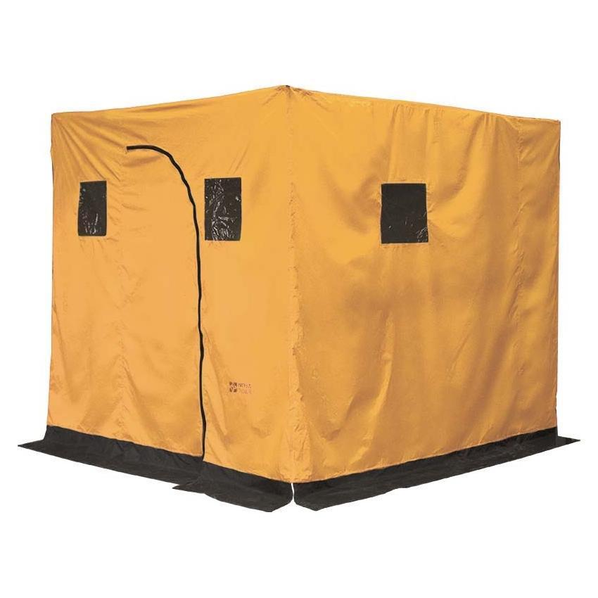 Баня походная Nova Tour, цвет: желтый, 210 см х 180 см х 180 см24068-201-00Палатка-баня Nova Tour отличного качества. Устанавливается в любом месте за считанное время. Баня не требует специальных приспособлений для установки. В качестве кольев отлично подойдут небольшие стволы деревьев. Внутри имеется огнеупорная накладка. По всему периметру платки имеется ветрозащитная юбка, которая предотвращает попадание сквозняков внутрь бани. В палатке расположены небольшие окошки. В сложенном виде имеет небольшой вес и занимает мало места. Ткань тента - Poly Taffeta 210T PU 3000.