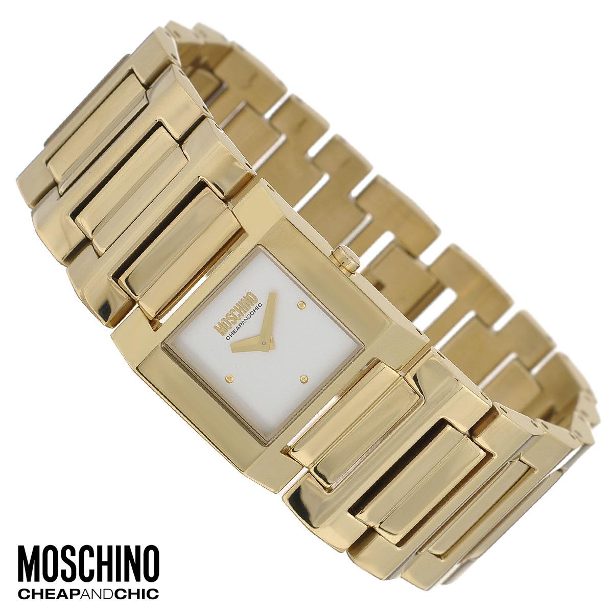 Часы женские наручные Moschino, цвет: золотой. MW0358MW0358Наручные часы от известного итальянского бренда Moschino - это не только стильный и функциональный аксессуар, но и современные технологи, сочетающиеся с экстравагантным дизайном и индивидуальностью. Часы Moschino оснащены кварцевым механизмом. Корпус выполнен из высококачественной нержавеющей стали с PVD-покрытием. Циферблат с отметками защищен минеральным стеклом. Часы имеют две стрелки - часовую и минутную. Браслет часов выполнен из нержавеющей стали с PVD-покрытием и оснащен застежкой-клипсой. Часы упакованы в фирменную металлическую коробку с логотипом бренда. Часы Moschino благодаря своему уникальному дизайну отличаются от часов других марок своеобразными циферблатами, функциональностью, а также набором уникальных технических свойств. Каждой модели присуща легкая экстравагантность, самобытность и, безусловно, великолепный вкус. Характеристики: Размер циферблата: 1,6 см х 1,6 см. Размер корпуса: 2,5 см х 2,5 см х 0,6...