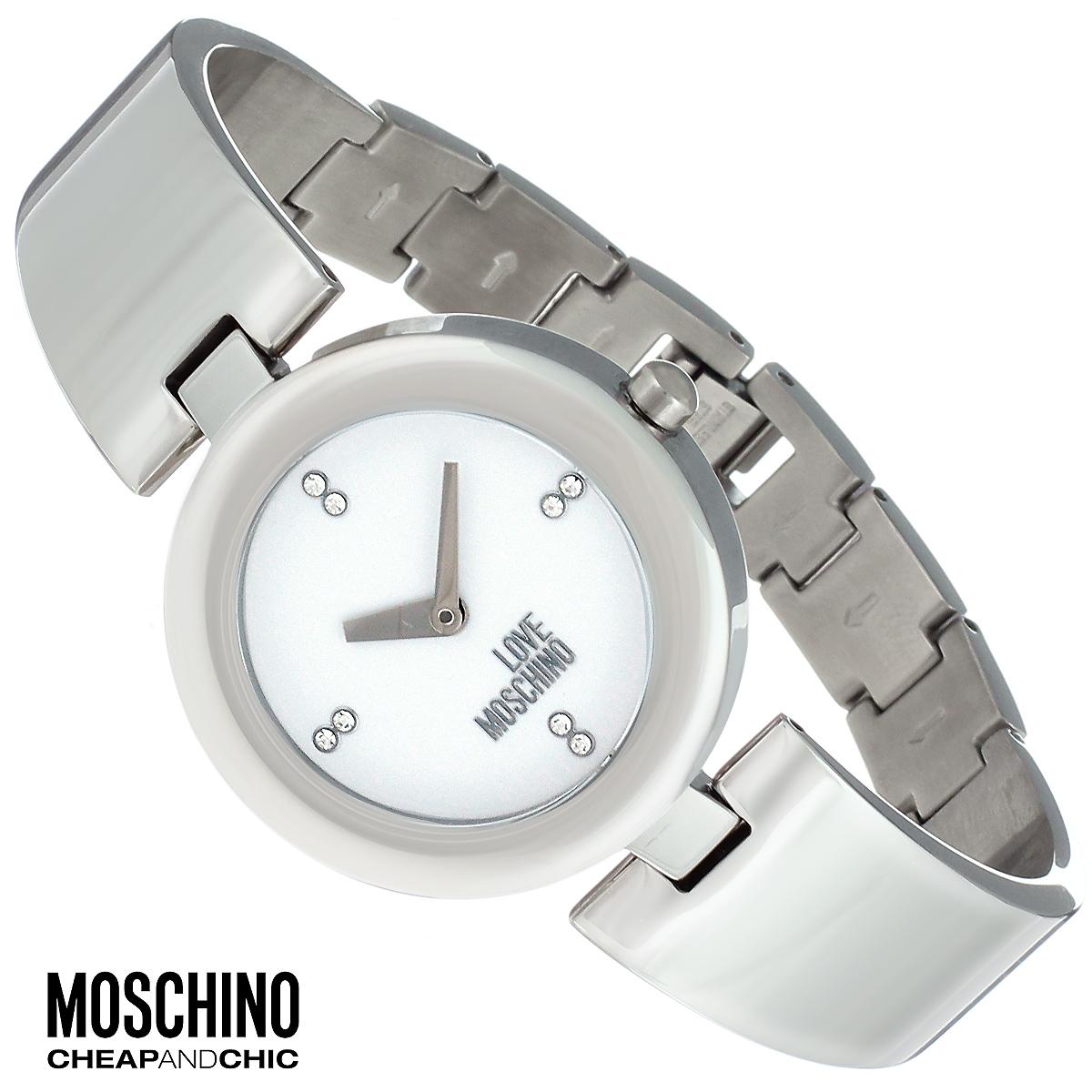 Часы женские наручные Moschino, цвет: серебристый. MW0423MW0423Наручные часы от известного итальянского бренда Moschino - это не только стильный и функциональный аксессуар, но и современные технологи, сочетающиеся с экстравагантным дизайном и индивидуальностью. Часы Moschino оснащены кварцевым механизмом. Корпус выполнен из высококачественной нержавеющей стали. Циферблат оформлен отметками из страз, надписью Love Moschino защищен минеральным стеклом. Часы имеют две стрелки - часовую и минутную. Браслет часов выполнен из нержавеющей стали и оснащен ювелирной застежкой. Часы упакованы в фирменную металлическую коробку с логотипом бренда. Часы Moschino благодаря своему уникальному дизайну отличаются от часов других марок своеобразными циферблатами, функциональностью, а также набором уникальных технических свойств. Каждой модели присуща легкая экстравагантность, самобытность и, безусловно, великолепный вкус. Характеристики: Диаметр циферблата: 2,5 см. Размер корпуса: 3,3 см х 4 см х 0,7...