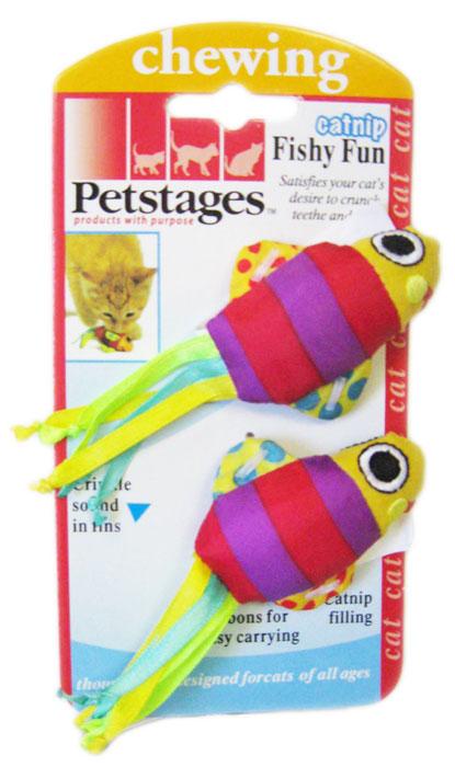 Игрушка для кошек Petstages Рыбки, 2 шт321YEXИгрушка Petstages Рыбки отлично подходит для кошек, которые любят пожевать игрушки или для котят в момент прорезывания зубов. Помогает удалить зубной налет и сохраняет здоровье полости рта. Игрушка наполнена кошачьей мятой, что не может не привлечь вашего питомца. Тканевые плавники и хвост из ленточек поддерживают интерес к игре. Размер игрушки: 11 см х 3 см х 2 см.