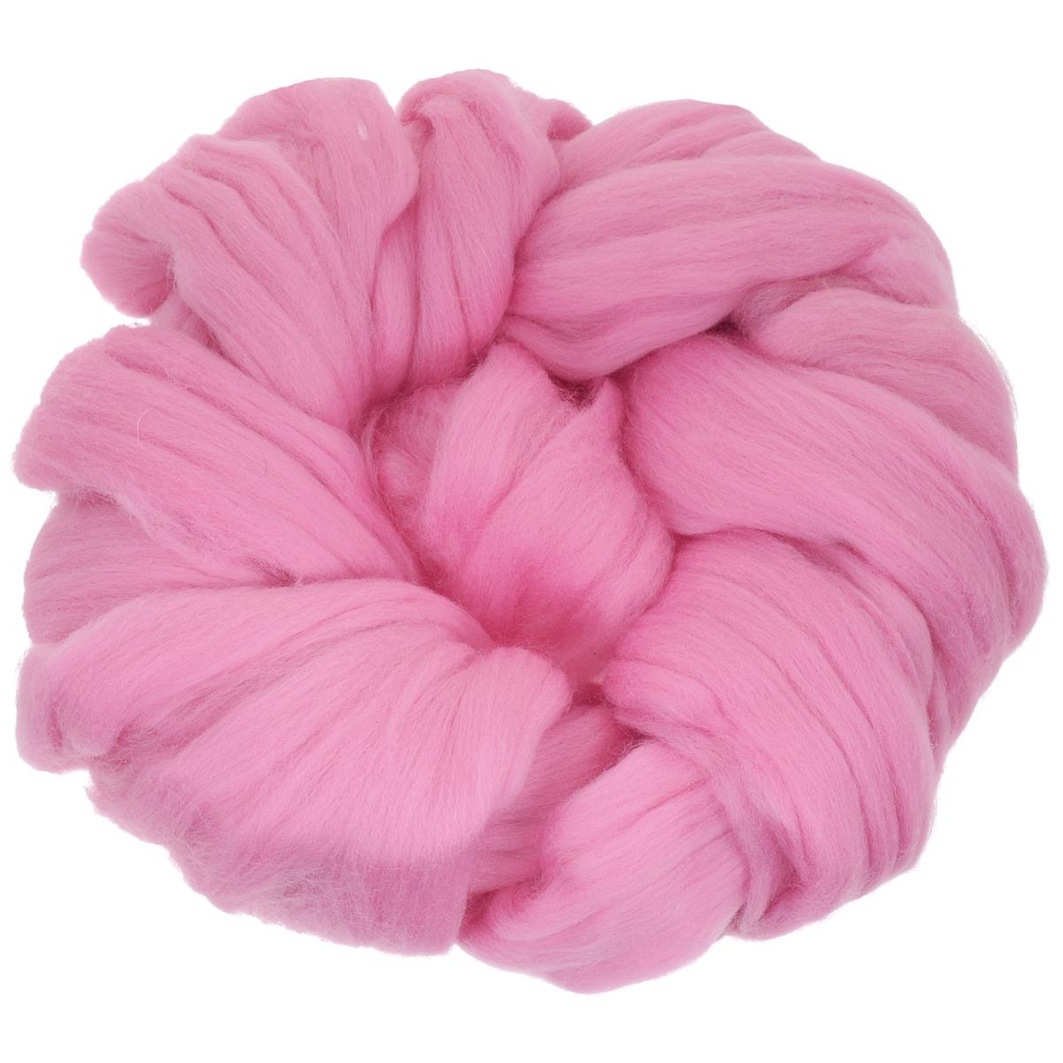 Шерсть для валяния Астра, тонкая, цвет: розовый (0160), 100 г366137_0160