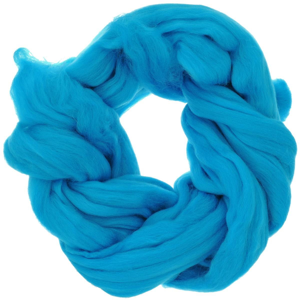 Шерсть для валяния Астра, тонкая, цвет: голубая бирюза (0473), 100 г366137_0473