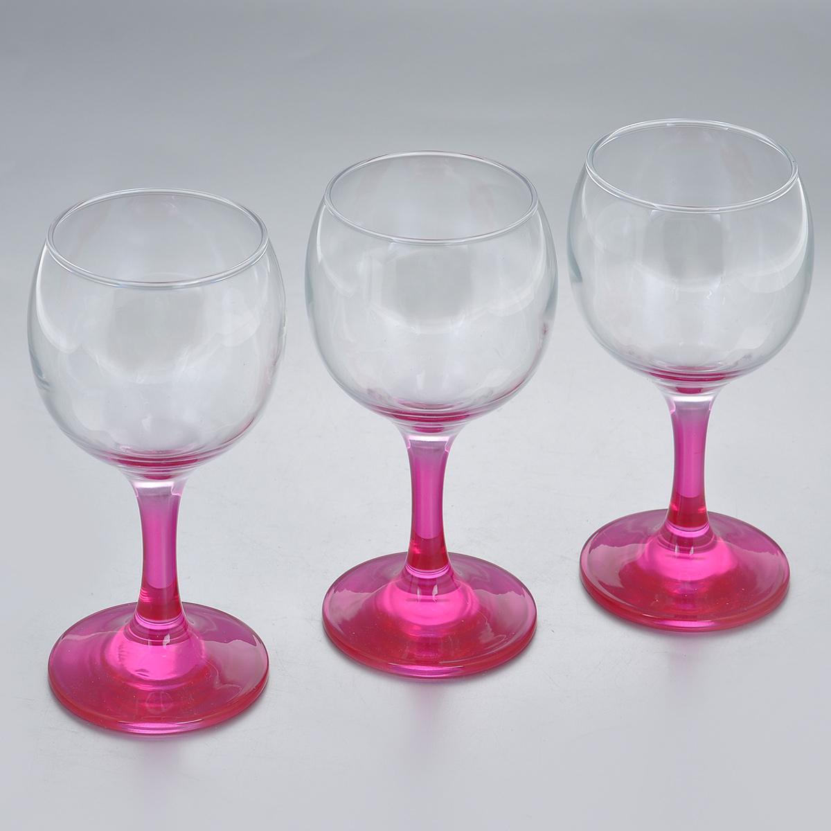 Набор фужеров Glass4you, цвет: фуксия, 220 мл, 3 шт44412F/Набор Glass4you состоит из трех фужеров, выполненных из прочного натрий-кальций-силикатного стекла. Изделия имеют тонкие высокие цветные ножки. Фужеры излучают приятный блеск и издают мелодичный звон. Предназначены для подачи вина. Набор фужеров Glass4you прекрасно оформит праздничный стол и станет хорошим подарком к любому случаю. Можно мыть в посудомоечной машине. Диаметр фужера (по верхнему краю): 6,6 см. Высота фужера: 14,5 см. Диаметр основания: 6,4 см.