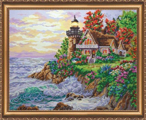 Набор для вышивания бисером Абрис Арт Домик у моря, 40 х 32 см АВ-255694483Набор для вышивания бисером Домик у моря поможет вам создать свой собственный шедевр - красивую вышитую картину. Основа создаваемой картины - натуральный художественный холст аналогичный тому, на котором пишут картины художники. Благодаря ему все элементы, которые творил художник, создавая картину, по мотивам которой разработана схема для вышивки, передаются с максимальной точностью. Сама структура холста делает напечатанную на нем картину отличной репродукцией. Краски, которые используются для нанесения изображения, экосольвентные, а значит, вы можете смело стирать готовое изделие, удаляя с его поверхности загрязнения, а так же покрывать его лаком как при помощи аэрозолей, так и при помощи обычной кисточки! Кроме того со временем краски не потускнеют, не потрескаются - даже при попадании прямых солнечных лучей или влаги, им не страшны перепады температур и прочие неприятности. Благодаря особо прочной структуре холста картина никогда не деформируется под ...