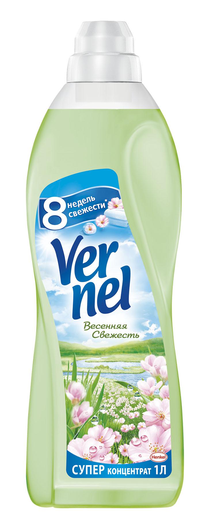Кондиционер для белья Vernel Весенняя свежесть, концентрат, 1 л910436