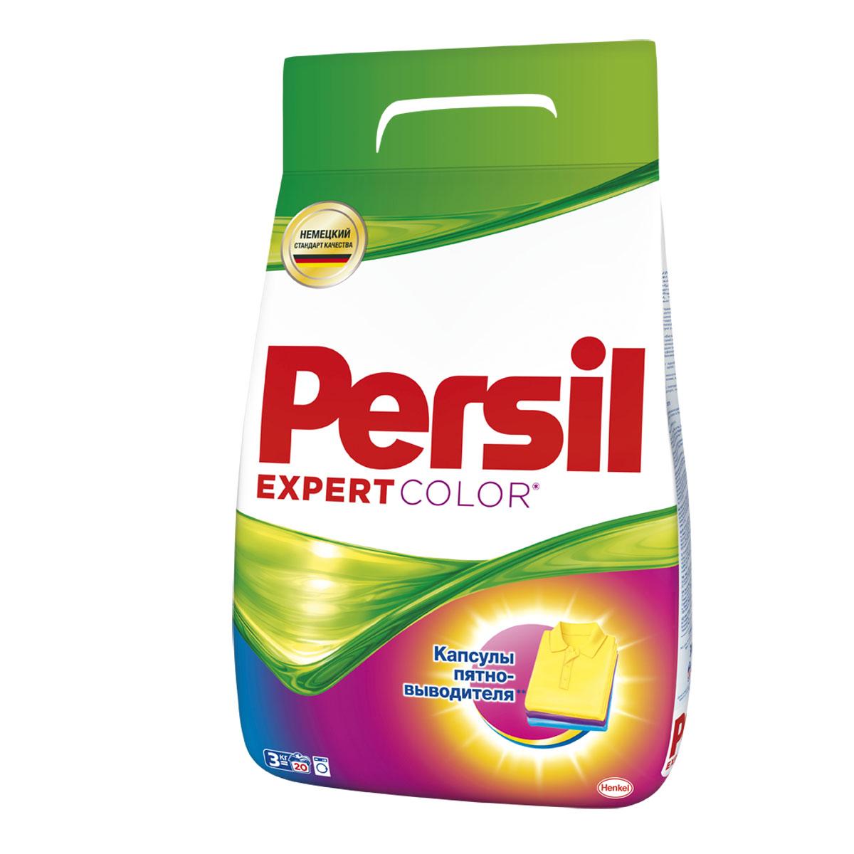 Стиральный порошок Persil Expert Color, 3 кг902492Средство моющее синтетическое универсальное Persil expert color. Предназначено для стирки цветных изделий из хлопчатобумажных, льняных, синтетических тканей и тканей из смешанных волокон вручную и в стиральных машинах любого типа и ручной стирки в воде любой жесткости. В состав входят цветозащитные компоненты, сохраняющие яркость цветов ткани, а также смягчающие воду вещества, защищающие стиральную машину от образования известкового налета. Состав: 5-15% анионные ПАВ; Товар сертифицирован.