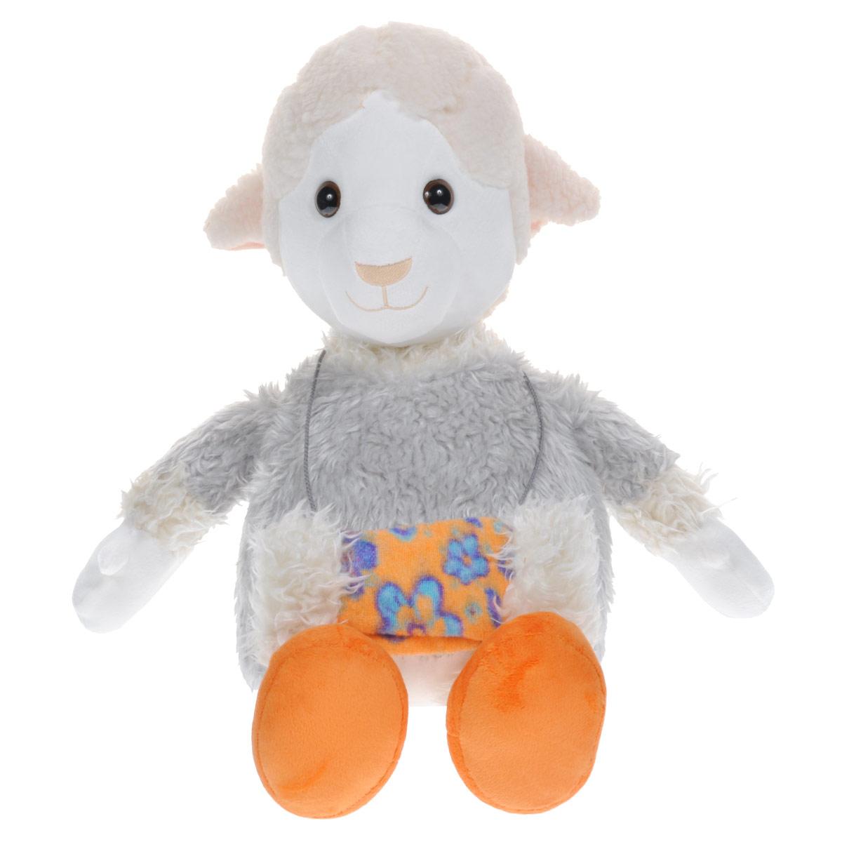 Мягкая игрушка Fancy Овечка Люси, 63 смOVYU2Мягкая игрушка Овечка Люси вызовет умиление и улыбку у каждого, кто ее увидит. Игрушка выполнена в виде милой овечки белого цвета, одетой в серую шубку. Оранжевые ботиночки на ногах и муфта на шее дополняют образ овечки. Игрушка изготовлена из мягкого, приятного на ощупь искусственного меха и текстиля с наполнителем из гипоаллергенного полиэфирного волокна. Удивительно мягкая игрушка принесет радость и подарит своему обладателю мгновения нежных объятий и приятных воспоминаний. Великолепное качество исполнения делают эту игрушку чудесным подарком к любому празднику.