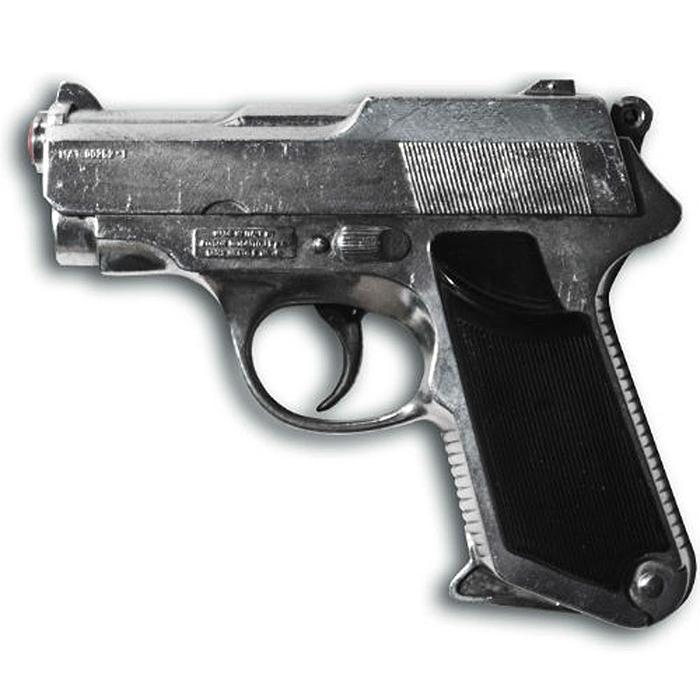 Пистолет Sharkmatic0252/66Пистолет Sharkmatic приведет в восторг любого малыша, увлеченного романтикой детективных расследований и оживленных полицейских погонь. Он идеально подойдет для детских игр в отважных защитников правопорядка и дерзких бандитов. Игрушка выполнена из металла и пластика и представляет собой реалистичную модель современного пистолета с массивным литым стволом. Пистолет отлично стреляет, а удобная рукоять плотно ложится в руку. Емкость магазина: 13 пистонов. Эту уникальную модель из ограниченной серии отличает следующее: ручная сборка и полировка, уникальный номер модели (выгравирован сбоку) и de-luxe кейс. Этот пистолет непременно придется по вкусу вашему ребенку, он сможет часами играть с ним, придумывая различные истории и разыгрывая сцены из любимых фильмов. Такие игры помогут малышу развить социальные и коммуникативные навыки, воображение, крупную и мелкую моторику. Порадуйте своего ребенка таким замечательным подарком! Edison Giocattoli - один из...