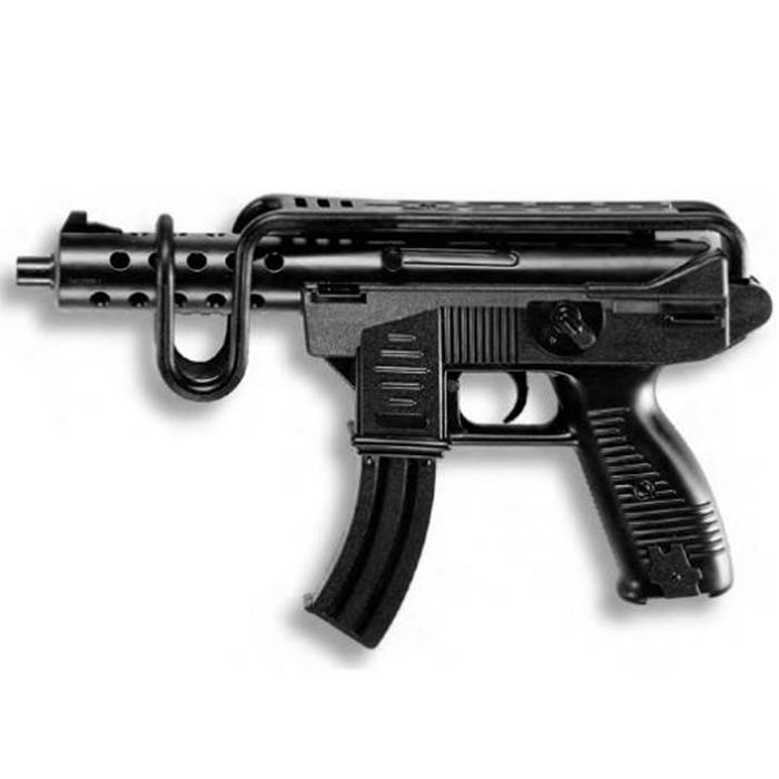 Автомат Uzimatic0266/46Автомат Uzimatic приведет в восторг любого малыша, увлеченного романтикой детективных расследований и оживленных полицейских погонь. Он идеально подойдет для детских игр в отважных защитников правопорядка и дерзких бандитов. Игрушка выполнена из прочного безопасного пластика и представляет собой реалистичную модель современного пистолета. Рукоятка оформлена под дерево. Автомат отлично стреляет, а удобный приклад плотно ложится в руку. Емкость магазина: 13 пистонов. Без пистонов при нажатии на курок раздается громкий щелчок, имитирующий автоматный выстрел. Этот автомат непременно придется по вкусу вашему ребенку, он сможет часами играть с ним, придумывая различные истории и разыгрывая сцены из любимых фильмов. Такие игры помогут малышу развить социальные и коммуникативные навыки, воображение, крупную и мелкую моторику. Порадуйте своего ребенка таким замечательным подарком! Edison Giocattoli - один из лучших производителей игрушечных...