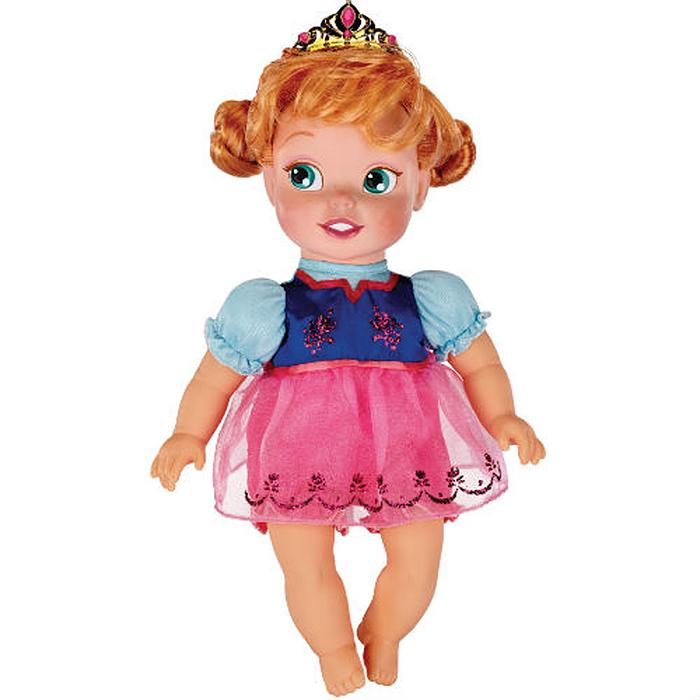 Disney Princess Пупс Холодное сердце Малютка Анна31006Кукла-пупс Disney Frozen «Холодное сердце. Малютка Анна непременно понравится вашей дочурке. Малышка Анна одета в прекрасное платьице, исполненное в зеленом, синем и малиновом цветах, и в панталоны. У куклы шикарные рыжие локоны, заплетенные в два хвостика. Голову Анны украшает золотистая тиара, оформленная камнями. У куколки мягконабивное тельце, а голова, ручки и ножки пластиковые. Такая куколка очарует вас и вашу дочурку с первого взгляда! Ваша малышка с удовольствием будет играть с принцессой, проигрывая сюжеты из мультфильма или придумывая различные истории. Порадуйте свою дочурку таким замечательным подарком!
