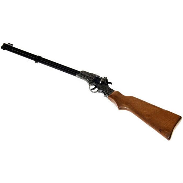 Ружье Enfield Gewehr Metall Western0375/96Ружье Enfield Gewehr Metall Western приведет в восторг любого малыша, увлеченного романтикой вестернов и оживленных погонь. Оно идеально подойдет для детских игр в отважных защитников правопорядка и дерзких бандитов. Игрушка выполнена из металла и прочного безопасного пластика и представляет собой реалистичную модель ружья, украшенного изящной резьбой. Приклад ружья оформлен под дерево. Ружье отлично стреляет, а эргономичный приклад обеспечивает удобство во время игры. Емкость магазина: 8 пистонов. Это ружье непременно придется по вкусу вашему ребенку, он сможет часами играть с ним, придумывая различные истории и разыгрывая сцены из любимых фильмов. Такие игры помогут малышу развить социальные и коммуникативные навыки, воображение, крупную и мелкую моторику. Порадуйте своего ребенка таким замечательным подарком! Edison Giocattoli - один из лучших производителей игрушечных пистонных пистолетов, мишеней и винтовок с пульками. Игрушки компании Edison...