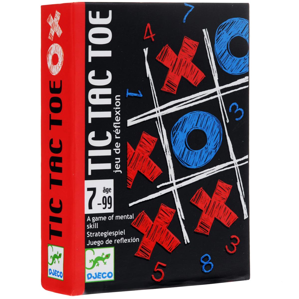 Карточная игра Djeco Крестики-нолики05122Карточная игра Крестики-нолики от французской компании Djeco понравится как детям, так и взрослым. Новый формат всеми любимой и давно известной игры делает ее еще более увлекательной и азартной. Фирма Djeco выпускает высококачественные игрушки, которые несут образовательный и развлекательный характер, развивают воображение и художественный вкус, к разработке привлекаются детские психологи, профессиональные дизайнеры и иллюстраторы. В набор входит колода из 36 карт (18 синих и 18 красных), 6 желтых карт стирания, 2 зеленые карты стирания, 24 жетона. Цель игры остается прежней – собрать по диагонали, вертикали или горизонтали три карточки одинакового цвета.