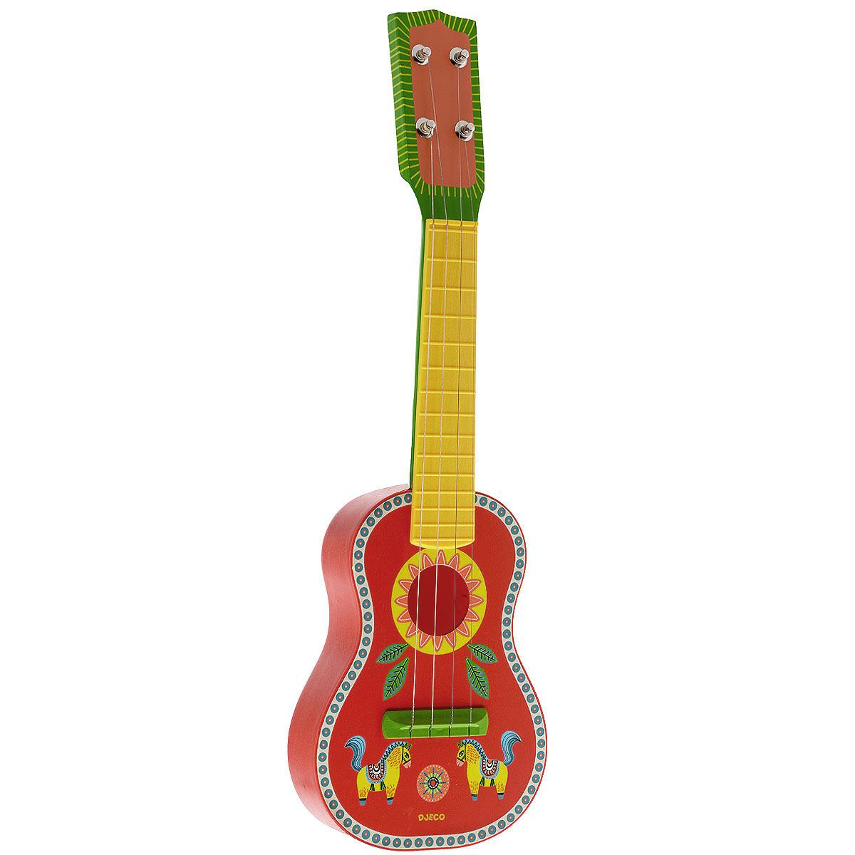 Djeco Гитара Animambo, цвет: красный, зеленый, желтый06013