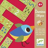 Домино Djeco Раз, два, три08168Домино Djeco Раз, два, три - первое домино Вашего ребенка в увлекательной игровой форме научит малыша азам простого счета. На карточках домино изображены цифры и различные картинки - подсказки. Домино Раз, два, три - это и увлекательная первая игра и познавательное занятие одновременно.