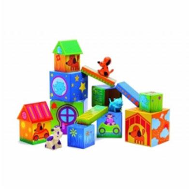 Игровой набор Djeco Кубанимо09102Игровой набор Djeco Кубанимо - красочная и увлекательная игра для самых маленьких. Малышу предоставляется возможность создать чудо - городок для забавных зверят. Ваш малыш будет с интересом играть и пристраивать зверей в этом городке. При этом Ваш ребенок может развивать мелкую моторику пальчиков, свою усидчивость.