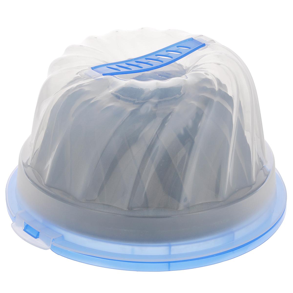 Форма для пирога Mayer & Boch, с антипригарным покрытием, с контейнером, диаметр 25 см3913Форма для пирога Mayer & Boch изготовлена из высококачественной углеродистой стали с внутренним антипригарным покрытием. Такое покрытие препятствует пригоранию, обеспечивает легкую очистку изделия и исключает необходимость использования большого количества масла, что способствует приготовлению здоровой пищи с пониженной калорийностью. Стенки изделия рельефные, что придает выпечке аппетитный внешний вид. Выпечка легко извлекается из противня. Форма предназначена для приготовления кексов и пирогов. В комплекте - пластиковый контейнер с крышкой, который позволит взять приготовленную выпечку с собой на пикник. Контейнер оснащен удобной ручкой. С такой формой вы всегда сможете порадовать своих близких оригинальной выпечкой. Форма подходит для использования в духовом шкафу. Нельзя мыть в посудомоечной машине.