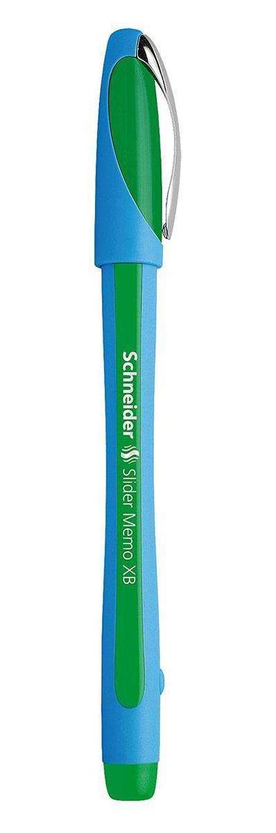 Ручка шариковая Slider Memo, XB - 1,0 мм, зеленый цвет чернилS502/04 S502-01/4