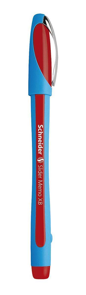 Ручка шариковая Slider Memo, XB - 1,0 мм, красный цвет чернилS502/02 S502-01/2