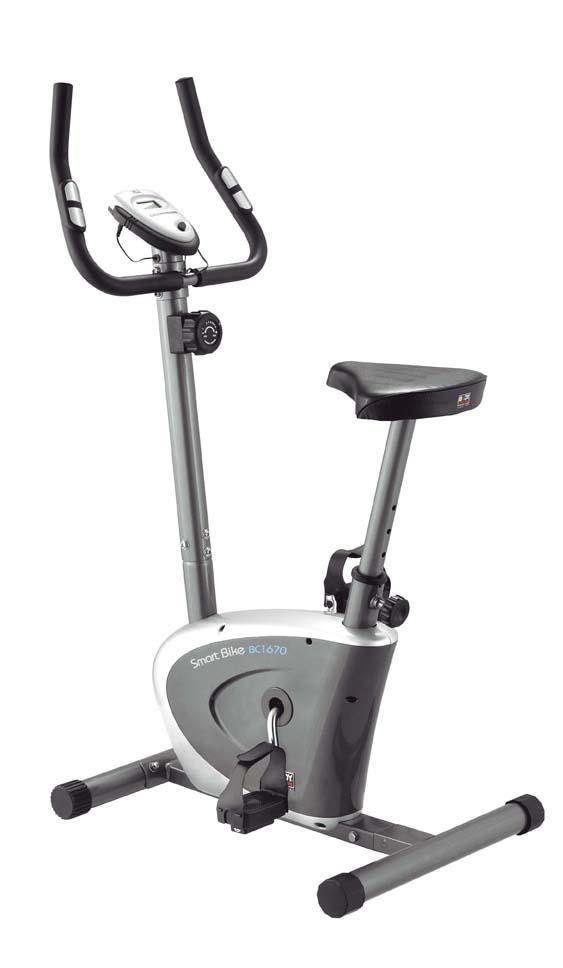 Велотренажер Body Sculpture, цвет: серый, 70 см х 50 см х 115 см. ВС-1670 HХ-НВС-1670 HХ-НВелотренажер Body Sculpture предназначен для тренировки ног. Особенности велотренажера: Магнитная система изменения уровня нагрузки Hi-tech обеспечивает плавный ход, а также бесшумную работу. Большое, удобное сиденье, регулируемое по высоте. Датчики измерения пульса находятся на рукоятках тренажера. Ручная регулировка (8 уровней) нагрузки для сопротивления при тренировке. Компьютер сканирует: пульс, время, скорость, дистанцию и потраченные калории. Опция одометр показывает расстояние, которое пройдено с момента первого включения. То есть общее расстояние с первой тренировки. Маленькая буква «к» означает, что расстояние измеряется в километрах.
