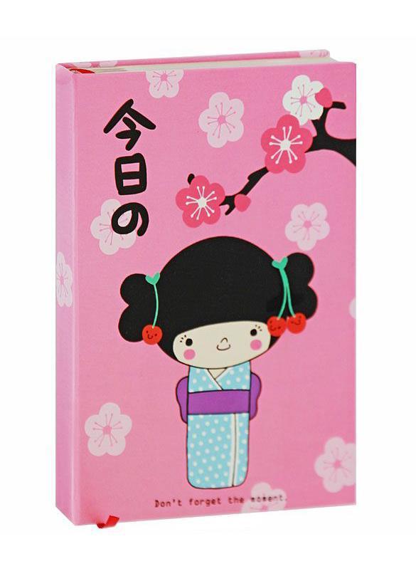 Блокнот Девочка и Сакура в твердом переплете, цвет: розовый0101239Блокнот Девочка и Сакура в твердом переплете оригинального дизайна - яркий аксессуар человека, ценящего практичные и качественные вещи. Внутренний блок выполнен из плотной кремовой бумаги с цветной рамочкой и содержит листы в линейку для записей. Страницы с забавными иллюстрациями вдохновят вас на творческие мысли и сделают вашу жизнь яркой и солнечной. Закладка-ляссе позволит быстро найти и открыть нужную страницу. Блокнот Девочка и Сакура - прекрасный подарок и незаменимый аксессуар современного человека. Характеристики: Материал: картон, бумага. Размер блокнота: 12,2 см х 17,7 см х 2 см. Изготовитель: Китай.