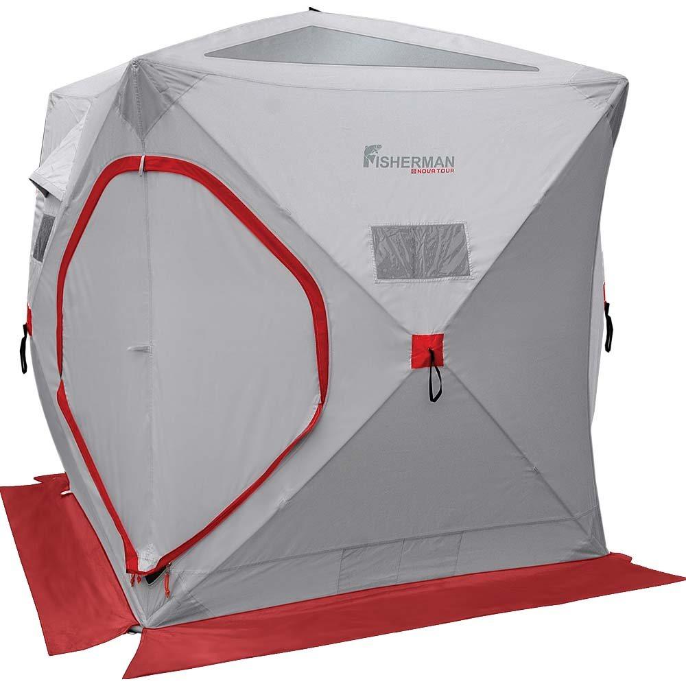 Палатка для зимней рыбалки Nova Tour Куб, цвет: серый