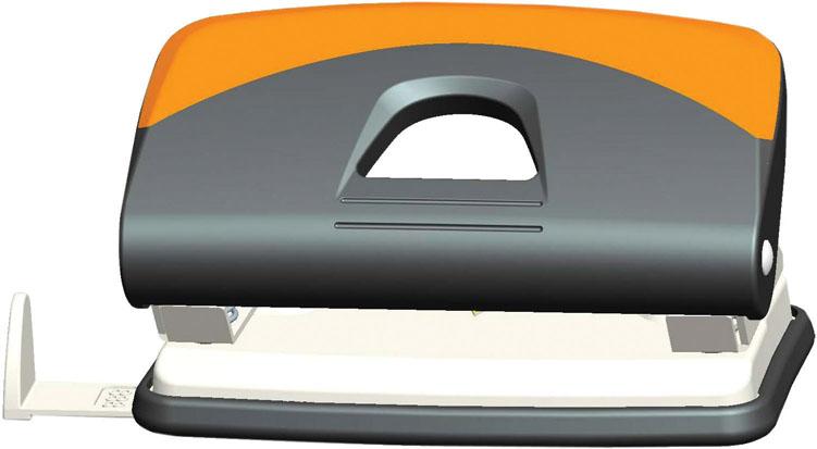 Дырокол Centrum, на 10 листов, цвет: серый, оранжевый. 8341783417Удобный и практичный дырокол Centrum - незаменимый офисный инструмент. Металлический дырокол предназначен для одновременной перфорации до 10 листов бумаги. Для удобства оснащен линейкой-направляющей с разметкой для документов различных форматов, а также имеет съемный резервуар для обрезков бумаги, встроенный в основание. Эргономичный и легкий дырокол обладает хорошей устойчивостью и не скользит по поверхности стола. Дырокол - необходимый инструмент для любого, кто работает с большими объемами данных, он позволяет быстро и легко перфорировать документы для последующего подшивания их в папки. Благодаря дыроколу Centrum, ваши бумаги и ценные документы всегда будут организованы.