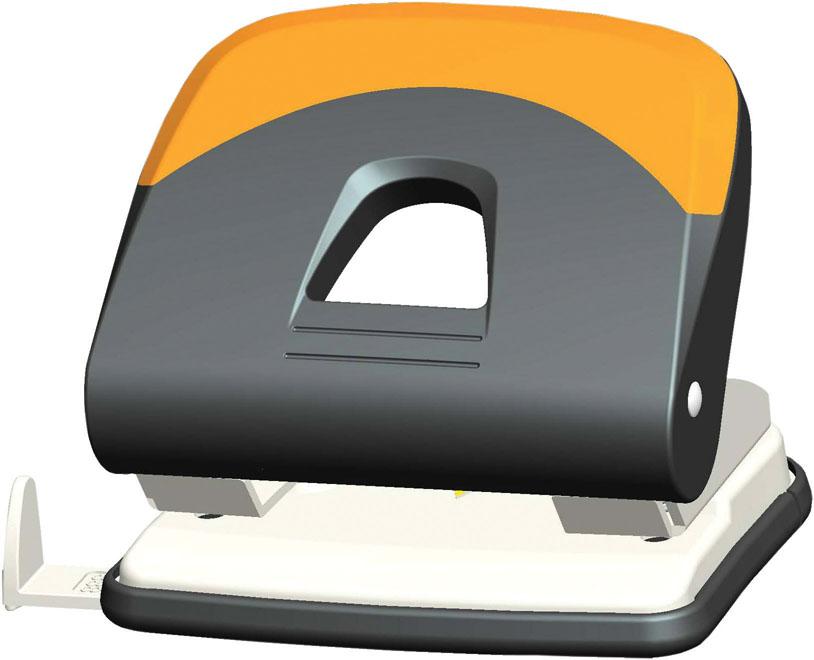 Дырокол Centrum, на 30 листов, цвет: серый, оранжевый. 8341883418Удобный и практичный дырокол Centrum - незаменимый офисный инструмент. Металлический дырокол предназначен для одновременной перфорации до 30 листов бумаги. Для удобства оснащен линейкой-направляющей с разметкой для документов различных форматов, а также имеет съемный резервуар для обрезков бумаги, встроенный в основание. Дырокол обладает хорошей устойчивостью и не скользит по поверхности стола. Дырокол - необходимый инструмент для любого, кто работает с большими объемами данных, он позволяет быстро и легко перфорировать документы для последующего подшивания их в папки. Благодаря дыроколу Centrum, ваши бумаги и ценные документы всегда будут организованы.