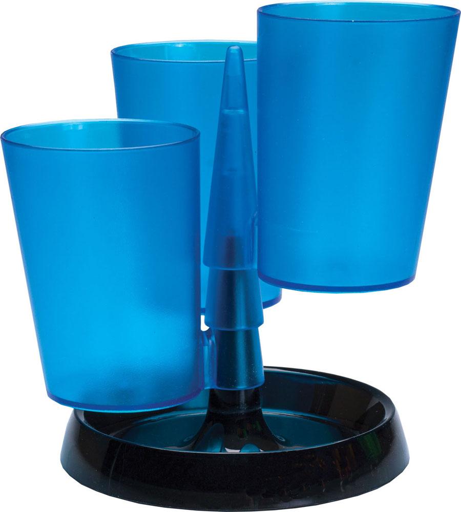 Centrum Подставка для канцелярских принадлежностей цвет синий83904_синийПодставка для канцелярских принадлежностей Centrum - неотъемлемый атрибут рабочего стола дома или в офисе. Подставка изготовлена из высококачественного пластика и имеет 3 отделения в виде стаканов, которые собираются на подставку. Подставка выполнена из непрозрачного пластика и благодаря широкому дну обеспечивает необходимую устойчивость. Такая подставка станет практичным и функциональным элементом вашего рабочего стола, благодаря ей канцелярские принадлежности всегда будут под рукой. УВАЖАЕМЫЕ КЛИЕНТЫ! Обращаем ваше внимание, что товар поставляется в цветовом ассортименте. Поставка осуществляется в зависимости от наличия на складе.