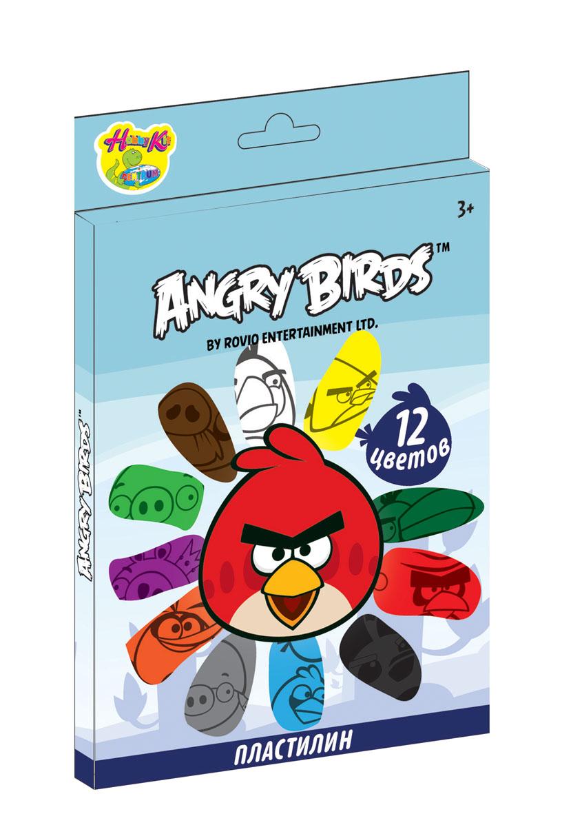 "Пластилин ""Angry Birds"", 12 цветов"
