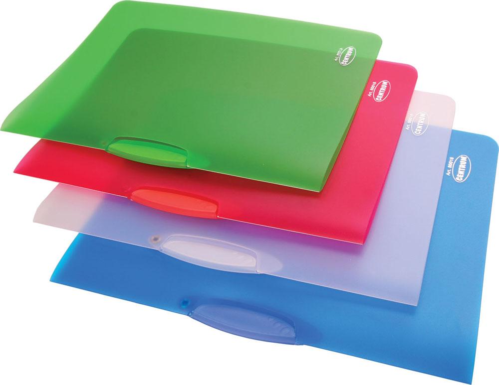 Папка с клипом Centrum, прозрачная, цвет: синий. Формат А4, 4 шт80018ОПапка с клипом Centrum - это удобный и практичный офисный инструмент, предназначенный для хранения и транспортировки неперфорированных рабочих бумаг и документов формата А4. Папка изготовлена из прочного прозрачного пластика толщиной 0,45 мм и оснащена боковым поворотным клипом, позволяющим фиксировать неперфорированные листы. В комплект входят 4 папки зеленого, голубого, белого и малинового цветов. Папка - это незаменимый атрибут для студента, школьника, офисного работника. Такая папка практична в использовании и надежно сохранит ваши документы и сбережет их от повреждений, пыли и влаги.