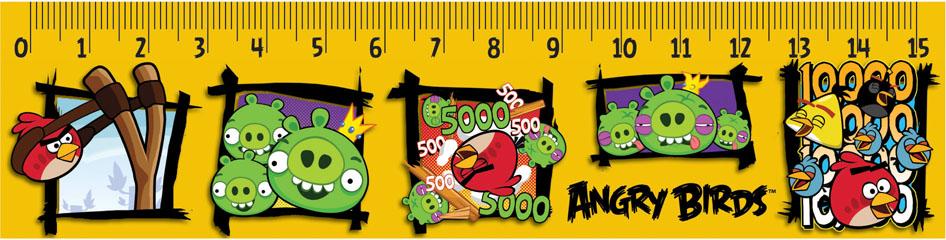 Линейка Centrum Angry Birds, 15 см, 10 шт84495Линейка Centrum Angry Birds обязательно придется по вкусу любому поклоннику знаменитой игры Angry Birds. Она выполнена из прочного пластика и оформлена изображениями сердитых птиц и их постоянных соперников - зеленых свинок, с двух сторон. Линейка имеет сантиметровую шкалу до 15 см. Цифры нанесены крупным шрифтом и не вызывают затруднений при чтении. В комплект входят 10 линеек. Линейка - это незаменимый атрибут, необходимый каждому школьнику или студенту, упрощающий измерение и обеспечивающий ровность проводимых линий. А с линейкой Angry birds учиться будет интересно и весело!