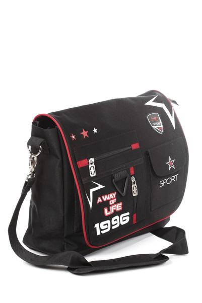 """Сумка Hatber HD """"Dynamic Style"""", цвет: черный, красный. NS_00016 Zipper"""