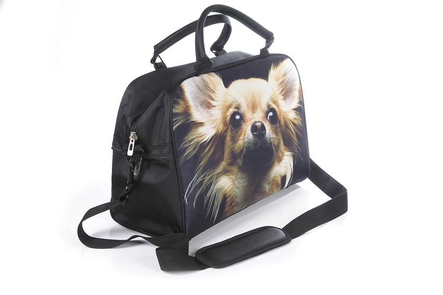 "Сумка Hatber HD ""Trend Line"", цвет: черный, бежевый. NS_00041 Glamour dog"